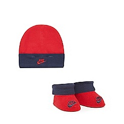Nike - Baby boys' red hat and booties set