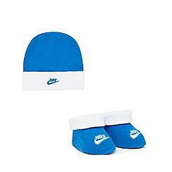 Nike - Baby boys' blue hat and bootie set