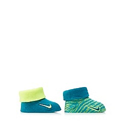 Nike - Baby boys' set of two turquoise and lime booties