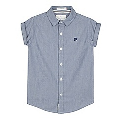 J by Jasper Conran - Boys' blue grindle shirt