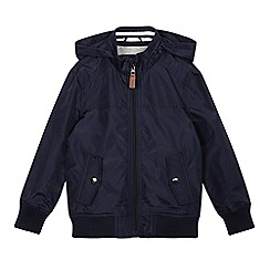 J by Jasper Conran - Boys' navy hooded Harrington jacket