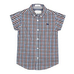 J by Jasper Conran - Boys' multi-coloured checked print shirt