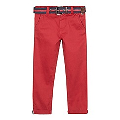 J by Jasper Conran - Boys' red belted slim fit chinos
