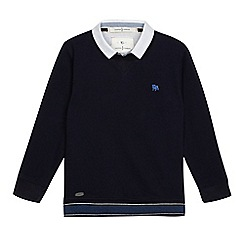J by Jasper Conran - Boys' navy mock jumper