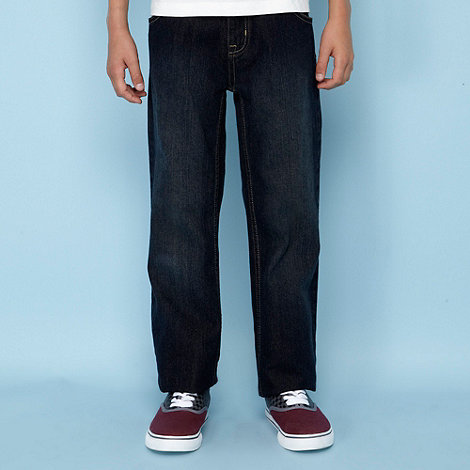 bluezoo - Boy's dark blue straight leg basic jeans