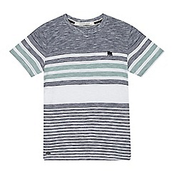 J by Jasper Conran - Boys' navy and white striped print t-shirt