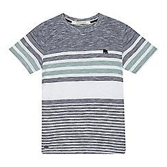 J by Jasper Conran - Boys' navy and white striped print t-shirt