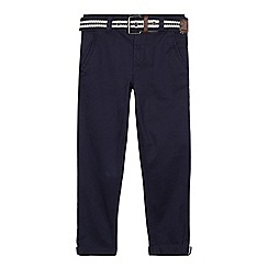 J by Jasper Conran - Boys' navy belted slim chinos