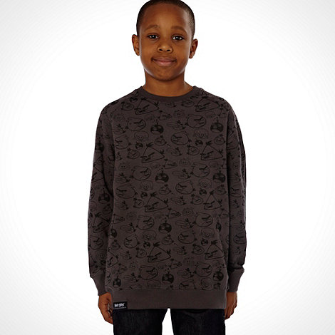 angry birds - Boy+s dark grey +Angry Birds+ sweat top
