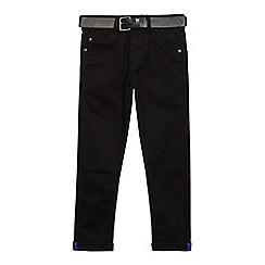 RJR.John Rocha - Boys' black super skinny belted jeans