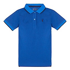 bluezoo - Boys' blue textured polo shirt