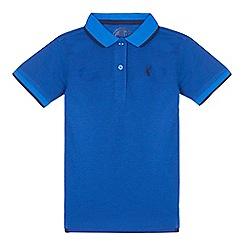 bluezoo - Boys' blue textured polo shirt