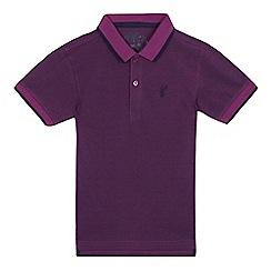 bluezoo - Boys' purple textured polo shirt