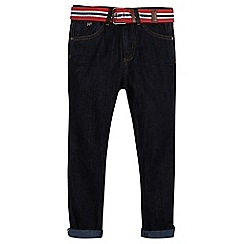 J by Jasper Conran - Boys' blue reverse belt jeans