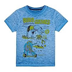 bluezoo - Boys' blue 'dino games' print t-shirt