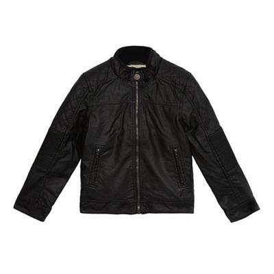RJR.John Rocha Boys black shearling lined jacket