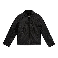 RJR.John Rocha - Boys' black shearling lined jacket