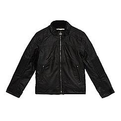 RJR.John Rocha - Boys' black shearling lined jacket