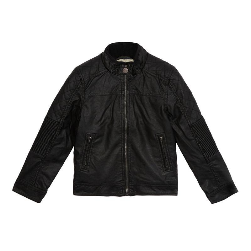 RJR.John Rocha Boys Black Shearling Lined Jacket, Size: Age