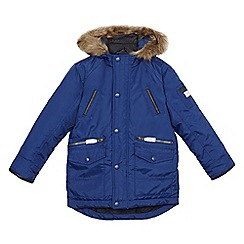 J by Jasper Conran - Boys' blue mock insert parka