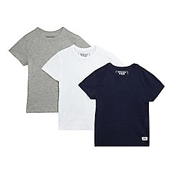 bluezoo - Pack of three boys' assorted crew neck t-shirts