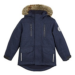 J by Jasper Conran - Boys' blue waterproof 3-in-1 parka coat