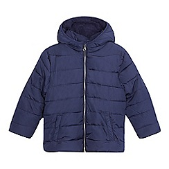 bluezoo - Boys' navy padded fleece lined jacket