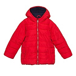 bluezoo - Boys' red padded shower resistant coat