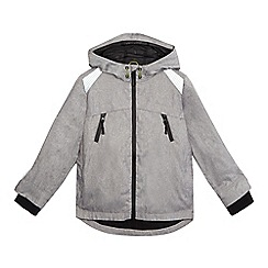 bluezoo - Boys' grey shower resistant hooded coat