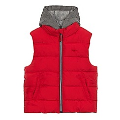 bluezoo - Boys' red hood gilet