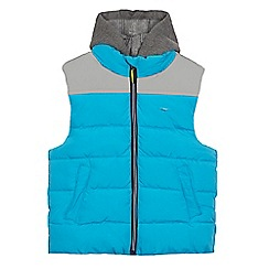 bluezoo - Boys' blue reflective yoke hooded gilet