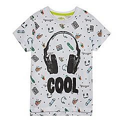 bluezoo - Boys' white 'cool' print t-shirt