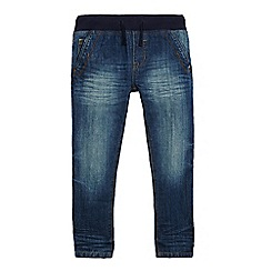 bluezoo - Boys' blue ribbed waist slim jeans