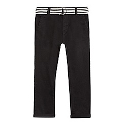 bluezoo - Boys' black super skinny belted Chinos