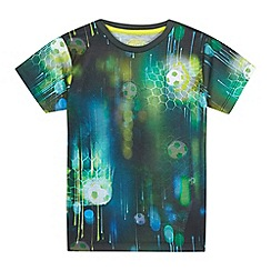 bluezoo - Boys' green football print t-shirt