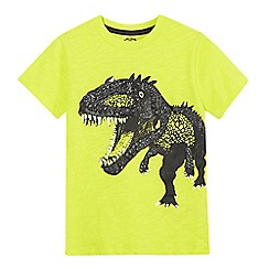 bluezoo - Boys' yellow textured T-Rex t-shirt