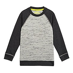 bluezoo - Boys' grey raglan 'Chill' slogan print sweatshirt