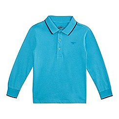 bluezoo - Boys' blue long sleeved polo shirt