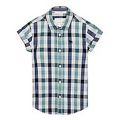 J by Jasper Conran - Boys' green gingham checked print shirt