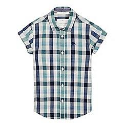 J by Jasper Conran - Boys' green gingham checked woven shirtá