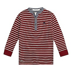 J by Jasper Conran - Boys' red striped print ribbed top