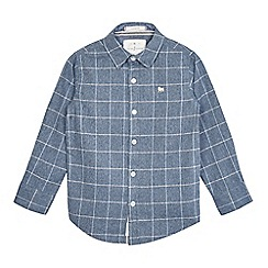 J by Jasper Conran - Boys' blue textured checked print shirt