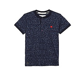 J by Jasper Conran - Boys' navy space dye t-shirt