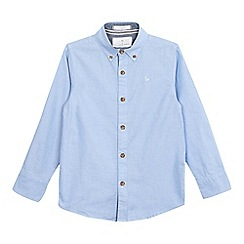 J by Jasper Conran - Boys' light blue textured Oxford shirt