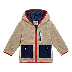 Mantaray - Boys' beige fleece hooded jacket