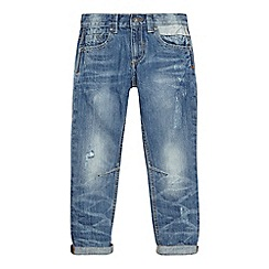 Mantaray - Boys' blue mid wash slim jeans
