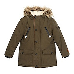 Mantaray - Boys' khaki waterproof parka coat