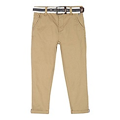 J by Jasper Conran - Boys' beige slim belted chinos