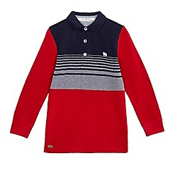 J by Jasper Conran - Boys' navy and red contrasting sleeves top