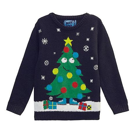 bluezoo - Boys+ navy light up Christmas jumper